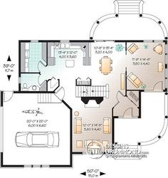 Country Farmhouse Victorian House Plan 65137 Level One Victorian House Plans, Victorian Homes, Vestibule, Garage Plans, Shed Plans, Car Garage, Architectural Design House Plans, Architecture Design, Garage Double