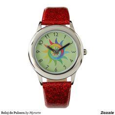 Reloj de pulsera. Producto disponible en tienda Zazzle. Accesorios, moda. Product available in Zazzle store. Fashion Accessories. Regalos, Gifts. Link to product: http://www.zazzle.com/reloj_de_pulsera-256954894337276540?lang=es&CMPN=shareicon&social=true&rf=238167879144476949 #reloj #watch #flores #flowers
