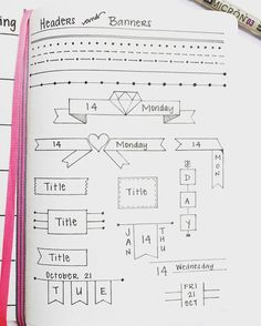 Spice Up Your Bullet Journal with Geometric Headers | Zen of Planning | Planner Peace and Inspiration (Diy Cuadernos)