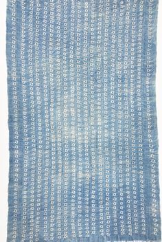 Mud Cloth, Authentic African Indigo Shibori Vintage textile from Mali, 65 inches long x 38 inches wide, Fringe! by MorrisseyFabric on Etsy