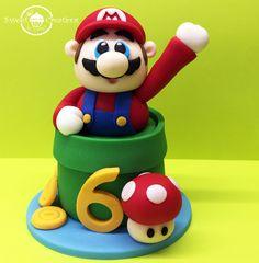 3D Edible Super Marion bros inspired cake topper