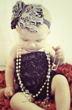 Baby girl! Adorable! If I have a girl! :)
