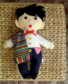 Mexican boy doll made from felt and fabric by Hope's art, via Flickr