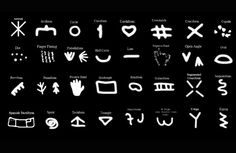 Genevieve von Petzinger studies the geometric signs found in early European Ice Age rock art sites. Art Rupestre, Cave Drawings, Christian Symbols, Ancient Symbols, Sacred Symbols, Ancient History, Ice Age, Founded In, Alphabet