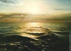 Купить Сверкающее Черное море (Авторская картина) - море живопись, масляная живопись, морской пейзаж