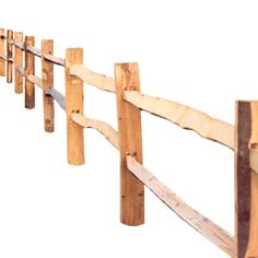 Cleft cleft chestnut post and rail fencing. Rustic, hardwood, 'Sussex' style fencing with split (cleft) chestnut rails and peeled chestnut posts