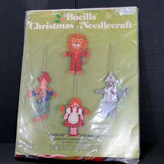 Bucilla Christmas Needlecraft Holiday Ornaments Wizard of Oz Dorothy Friends Set #Bucilla