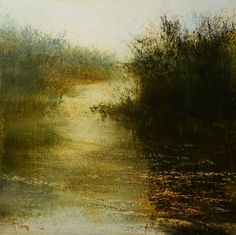 "Saatchi Art Artist Maurice Sapiro; Painting, ""Misty River"" #art"