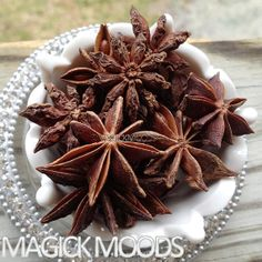 Star Anise (Badiana) - help with increasing psychic powers, clairvoyance, protection, purification, luck bringing, & ward off the evil eye
