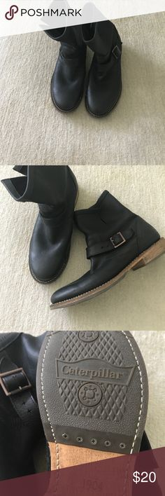 Men's caterpillar work boots - Can wear out also These perfect men's leather Catapillar boots can be worn and worksites and out on the town. Worn maybe twice they are in perfect condition. Please enjoy them Caterpillar Shoes Boots
