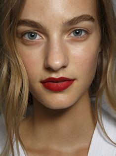 Smart mouths everywhere are pairing barely there makeup with a bold red kisser for added attention. (Searches for standout lip color +467%)