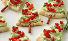 Pitta bread Christmas trees - great party food idea!