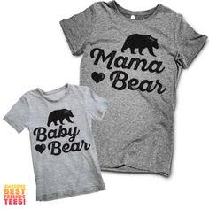 Mama Bear, Baby Bear | Matching Mom's and Kid's