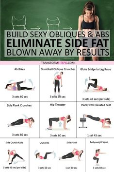 Eliminate side fat and build sexy obliques and abs. Get rid of side fat easily, see the before and after results…More Weight Loss Blogs, Easy Weight Loss, Pilates, Side Fat, Before And After Weightloss, Strength Training Workouts, Weight Training, Strength Training Women, Love Handles