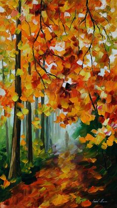Leonid Afremov Foggy Forest print for sale. Shop for Leonid Afremov Foggy Forest painting and frame at discount price, ships in 24 hours. Forest Painting, Oil Painting On Canvas, Painting Art, Knife Painting, Canvas Canvas, Fine Art Amerika, Foggy Forest, Forest Path, Art Sculpture
