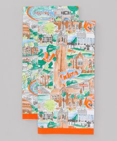 Take a look at this Blue & Orange Florida Tea Towel - Set of Two by Pomegranate Collegiate on #zulily today!
