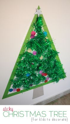 Sticky Christmas Tree (from Mama Papa Bubba)