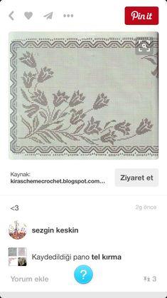 Crochet Edging Patterns, Weaving Patterns, Crochet Designs, Cross Stitch Patterns, Embroidery Stitches, Hand Embroidery, Fillet Crochet, String Art, Crochet Flowers