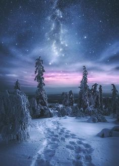 #BeautifulThings #Winter #Snow #BeautifulColours #BeautifulSky #Stars