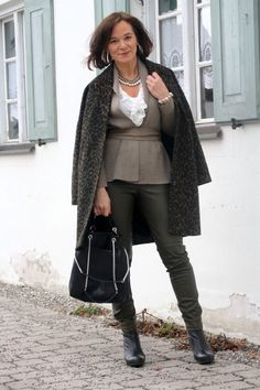 Leopard & Leather | Lady of Style. A Fashion Blog for Mature Women.