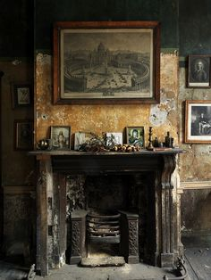 Ian Lumley's fireplace by Simon Brown Photography