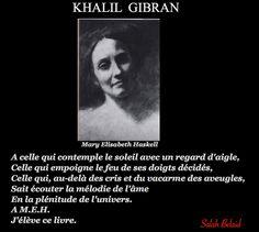 La Pensée Du Jour: DÉDICACE (Khalil Gibran)