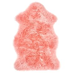 IKEA Decor Products That Showcase the Pantone 2019 Color of the Year Living Coral Room Rugs, Rugs In Living Room, Area Rugs, Ikea Sheepskin Rug, Ikea Usa, Ikea Family, Family Room, Plush Carpet, Cheap Carpet Runners