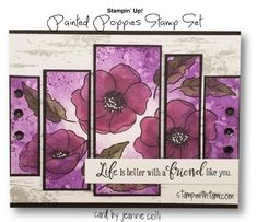 cards NEWS: 2020 Mini Catalog and SAB Pre-orders Begin – sneak peeks Poppy Cards, Stampin Up Catalog, Cards For Friends, Friend Cards, Fancy Fold Cards, Friendship Cards, Stamping Up Cards, Card Tags, Flower Cards