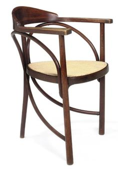 We offer a beautiful version of the Thonet No. 81 armchair. This Gebruder Thonet chair is circa 1900.