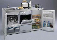 Mini kitchen unit - for a tiny house Mini Kitchen, Kitchen Units, Kitchen Ideas, Kitchen Small, Kitchen Designs, Kitchen Shelves, Kitchen Storage, Diy Kitchen Cabinets, Casa Loft