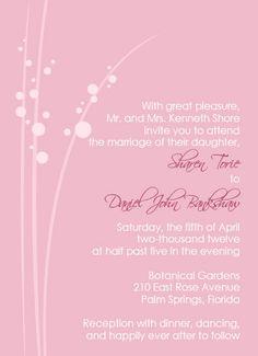 cute pink wedding invitations