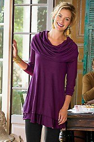 Oversized Cowl Neck Tunic
