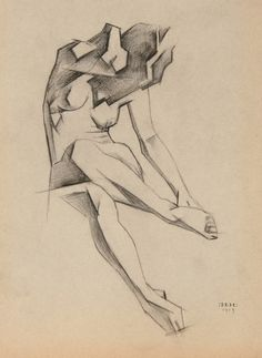 Ignaty Ignatievich Nivinsky (Russian, 1881-1933): Female Figure, 1913 Anatomy Sketches, Anatomy Art, Anatomy Drawing, Art Sketches, Figure Drawing Female, Figure Sketching, Figure Drawing Reference, Gesture Drawing, Drawing Poses