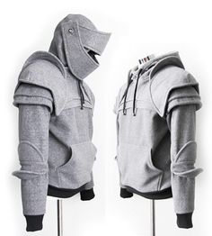Medieval Armor Hoodies.  I would love to be able to DIY this for a future little person.