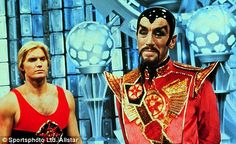 Flash (Sam J. Jones) and Ming the Merciless (Max von Sydow) in a scene from the 1980 film Flash Gordon Flash Gordon, Thomas Vinterberg, Hannah And Her Sisters, Brian Blessed, 1980 Films, Yellow Peril, Ted, Max Von Sydow, The Seventh Seal