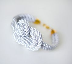 Nautical Silk cord White Bracelet by pardes israel by pardes, $14.00