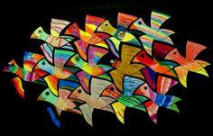 Group assignment: in the style of M.Escher rnrnSource by evelienhuige Mc Escher Art, Escher Kunst, Group Art Projects, Collaborative Art Projects, Kids Art Class, Art For Kids, Sculpture Lessons, Math Art, Damier