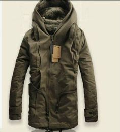 2013 NEW Winter Mens Military Trench Coat Ski Jacket Hooded Parka Thick Cotton in Clothes, Shoes & Accessories, Men's Clothing, Coats & Jackets Military Trench Coat, Trench Coats, Men's Coats, Parka Coat, Mode Sombre, Look Fashion, Mens Fashion, Fashion 2016, Fashion Photo