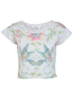 3ef098ae134fd Petites Printed Crop Top - Crop Tops   Bralets - Tops - Clothing - Miss  Selfridge
