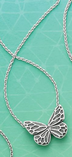Summer Collection - Sculpted Butterfly Necklace #JamesAvery