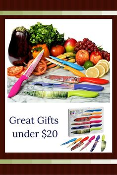 These rainbow colored kitchen knives are so cool.      I absolutely love this.  Here are some of the best gifts under 20 dollars.  You will appreciate these gifts are good for christmas 2016, birthdays, anniversaries and even Valentines day.  It does not matter if you like home decor, beauty, fashion , jewelry or something funny.  You are guaranteed to find the best gifts under 20 dollars.    cool gifts under 20 dollars  best gifts unCool gift ideas under 20 dollars - gift ideas under 20…