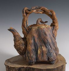 "Redwood Treepot stoneware  9"" x 7"" x 6""  $400USD"