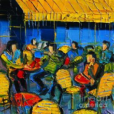 Yellow Cafe by EMONA Art