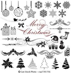 Vector - Vintage Design elements for Christmas - stock illustration, royalty free illustrations, stock clip art icon, stock clipart icons, logo, line art, EPS picture, pictures, graphic, graphics, drawing, drawings, vector image, artwork, EPS vector art