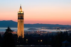 Photographic Print: Berkeley University Clock Tower by Rafael Ramirez : Berkeley California, Berkeley Hills, Northern California, Berkeley Campus, Berkeley College, San Francisco, Sanctuary City, College Campus, Federal