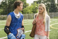 Still of Gabriella Wilde and Ansel Elgort in Carrie (2013)
