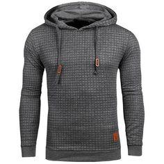 ping Hoodies Men Long Sleeve Solid Color Hooded Sweatshirt Male Hoodie Casual Sportswear US Size Sweat Cool, Cool Hoodies, Men's Hoodies, Long Hoodie, Grey Sweatshirt, Mens Sweatshirts, Long Sleeve, Fashion Men, Fashion Clothes
