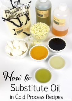How to Substitute Oils in Cold Process Recipes - Naturel Soap 2019 Soap Making Recipes, Homemade Soap Recipes, Homemade Paint, Oil Substitute, Savon Soap, Soap Making Supplies, Lotion Bars, Goat Milk Soap, Cold Process Soap