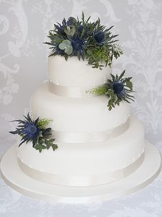 The Liggy's Cake Company - Scottish thistle wedding cake