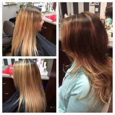 Beautiful Before and After  New subtle ombré with long fluid layers  By Stylist Leah Villagran Stella Salon in Sacramento Ca Stellathesalon.com